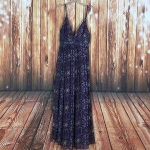 Moda International Purple Stained Glass Maxi Dress